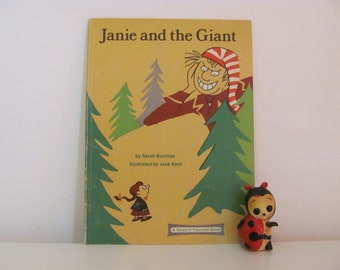 Janie And The Giant by Sarah Barchas Illustrated by Jack Kent 1977 Vintage Children's Book