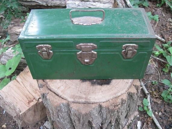 Grandpas Metal Fishing Tackle Box.