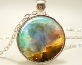 Omega Nebula Necklace, Galaxy Jewelry, Universe Pendant (1153S1IN)
