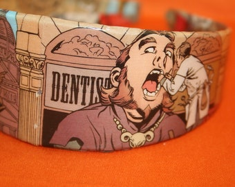 Visiting the Dentist Street Scene ComicBand - Fables - Comic Book Headband