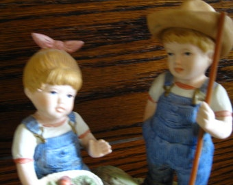 Denim Days Summer Harvest Homco Figurine MINT