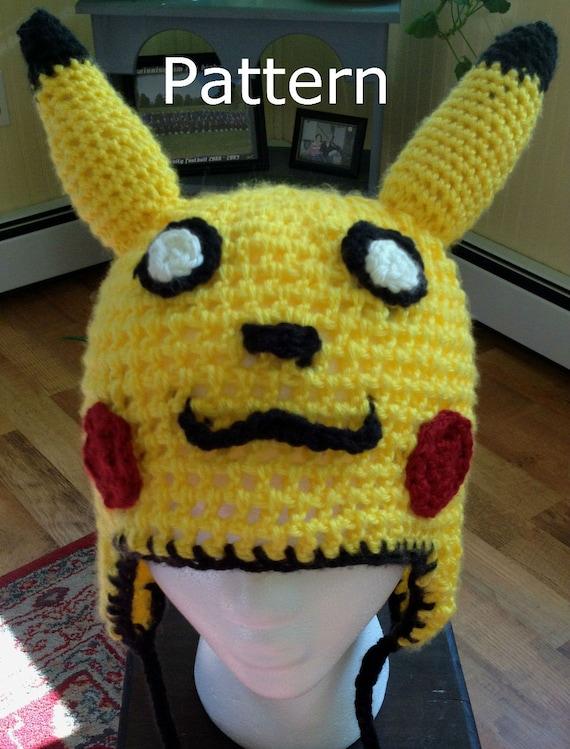 Pikachu Pokemon Inspired Crochet Hat Pattern