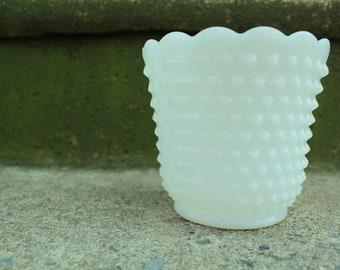 Fire King Hobnail Pattern Milk Glass Bowl/Planter