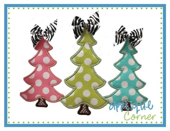 Items Similar To 775 Christmas Tree Trio Applique Design