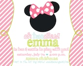 Minnie Mouse : Mickey Mouse Clubhouse Birthday Party Invitations