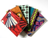 Notebook / Journal made of recycled paper with African print cover