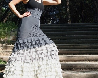 Flamenco Skirt 13 - Jersey/Tulle frills