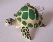 Sea Turtle - animal Christmas ornament window tree garden handpainted, handsculpted ornament