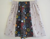 Panel Skirt in Brown 4T