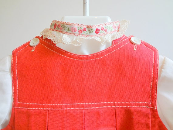 Vintage Red Canvas Jumper and blouse- new, never worn