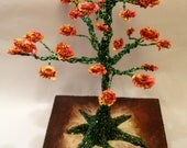 The Beauty of Springtime - Beaded Tree Sculpture
