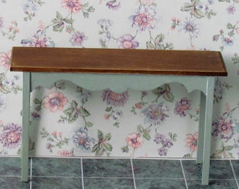 Dollhouse Sofa  Table  'Lenore' Collection Shabby Chic  Miniature Furniture 12th scale