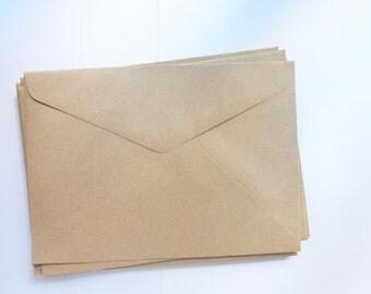 Set of 20 simple kraft envelopes - LARGE size 22.9 x 16.2cm.(C5)