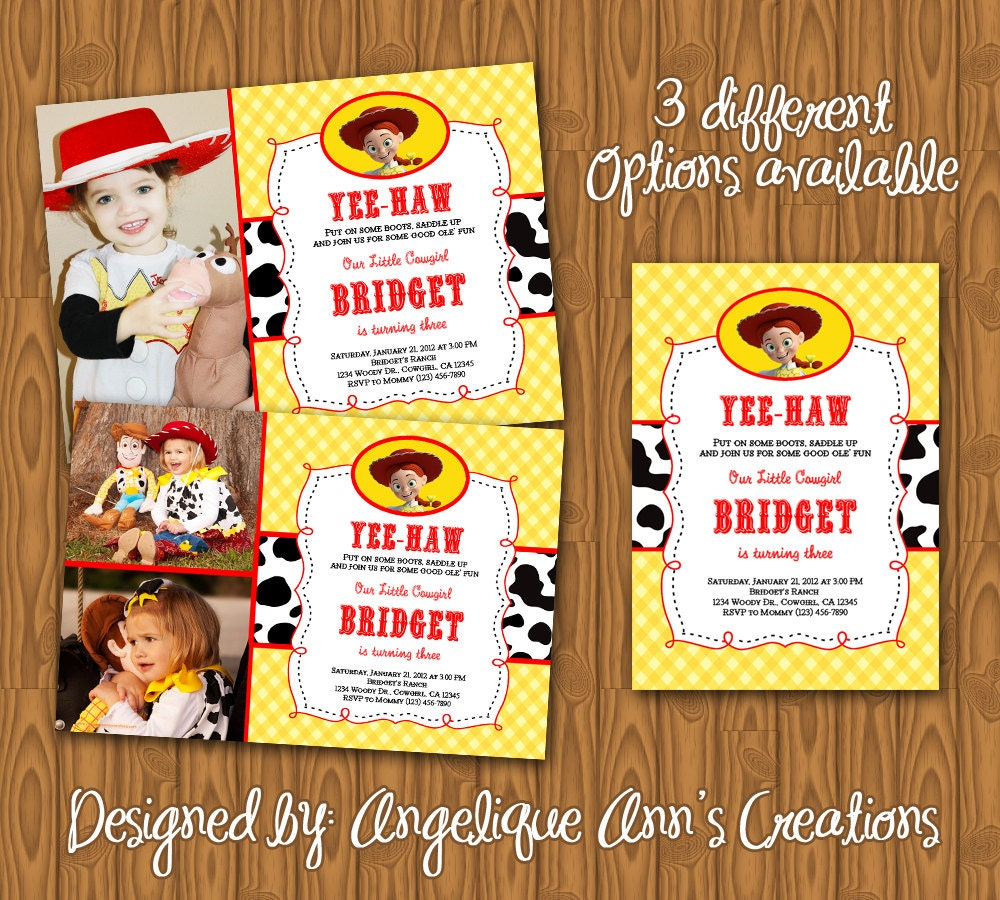 Toys Story Invitations for good invitation sample