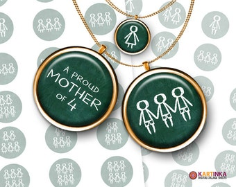 ALL MY SONS green - 1 inch and 1.5 inch and 7/8 inch Circles Digital Collage Sheet Printable Download for Pendants Magnets