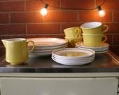 Cream & Yellow Dish Set