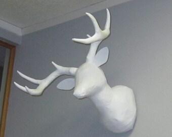 CUSTOM - BLANK  8 point faux taxidermy deer head