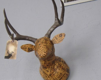 Faux Taxidermy Deer Head - NUMBERS