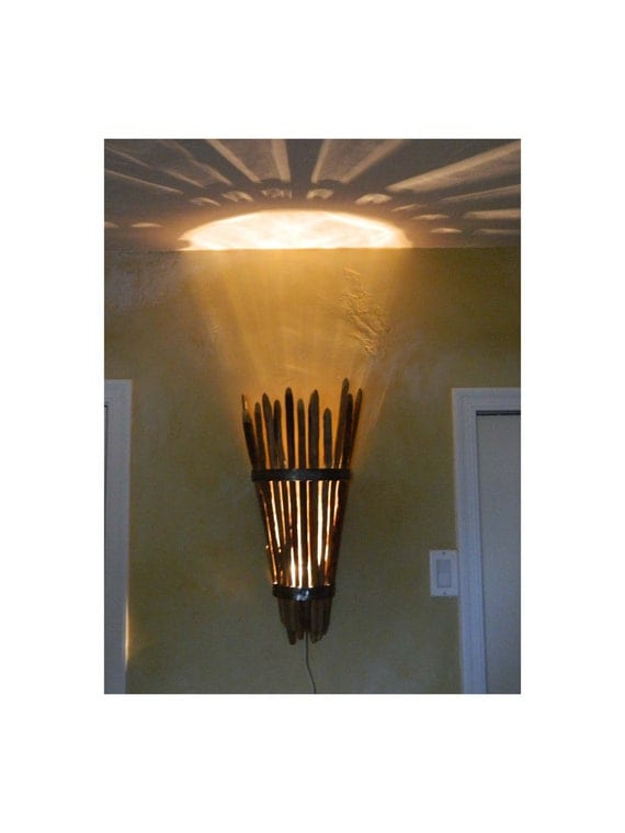 Wall Sconces Etsy : Saguaro Cactus Rib Light Sconce Wall Mount by DesertGallery