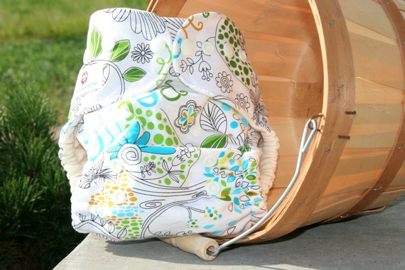 Organic Cotton Eco Baby One Size Cloth Diaper Cover