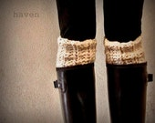 Boot Warmers/Boot Toppers/Shoe/Boot Accessory/ The Kilkenny Boot Cuff - Fisherman