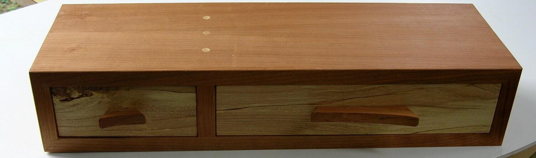 two drawer floating shelf. Black Bedroom Furniture Sets. Home Design Ideas