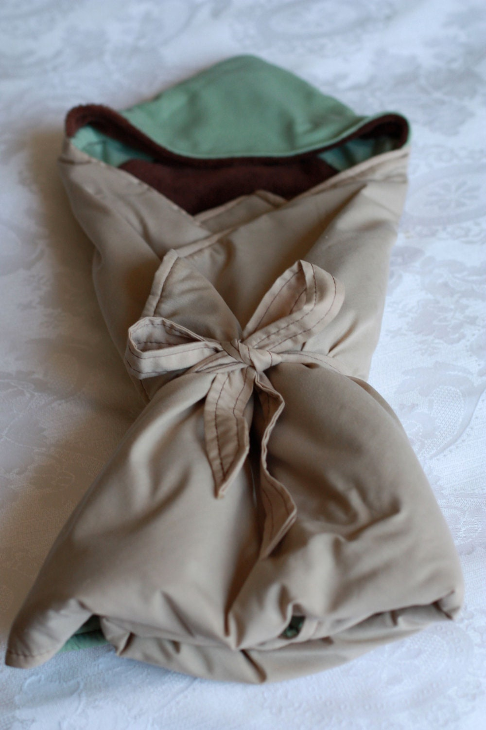 RESERVED Star Wars Inspired Yoda Hooded Baby Swaddle Blanket