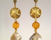 Drop Earring with Natural Shell