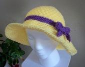 """Beautiful Handmade Crochet Hat  (Adults size - 21-23"""") FREE SHIPPING"""