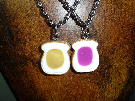 Peanut Butter and Jelly Best Friends necklaces by vintagerust