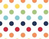 Medium Cotton Dots - Rainbow - Riley Blake 1 yard Pre-order - Sale - shipping in August