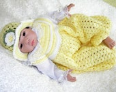 Baby Girl Bubble Suit With Matching Floral Hat