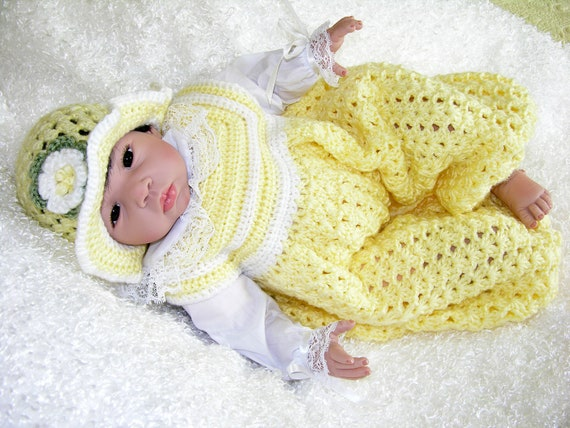 Baby Girl Bubble Suit With Matching Floral Hat - Newborn to 12 Months