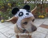 Crochet Panda Dog Hat