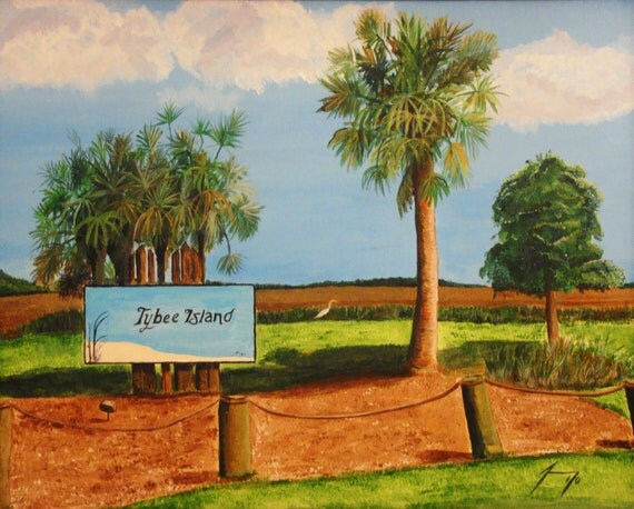 Tybee Island, Georgia Entrance Original Painting