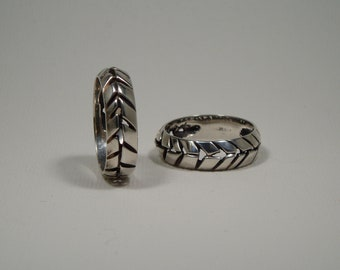 Fractured ring silver sterling 925