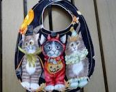 Cats in Costume Halloween Bib
