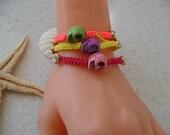 Skull Bracelet - Macrame - Summer Style - Beach - Summer - Friendship Bracelet