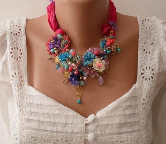 New Unique Necklace Wedding Necklace Handmade Design