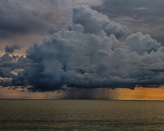 Thunder storm cloud over the Gulf of Mexico Clearwater Beach Florida