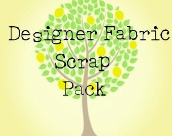 Designer Fabric Scrap Pack- 3 Yards Total By Weight