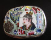 My LIttle China Girl Mosaic Belt Buckle