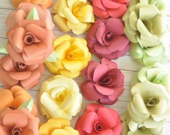 Large Paper Flowers- Wedding Decorations- Shower Decorations-Party Flowers