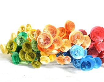 Colorful Paper Flowers bouquet- Bouquet of Paper Flowers- set of 120