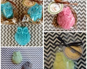 35 Owl Soap Party Favors packaging and personalized tag included