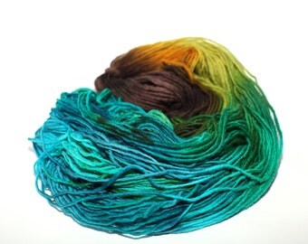 Wool Yarn Hand Dyed Earthy Multicolor Hand Spun Pure Wool Yarn 100 gm