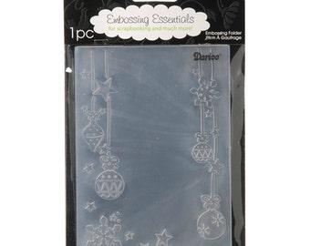 Darice- HANGING CHRISTMAS ORNAMENTS - Lovely Embossing Folder - A2 Ornamental Star