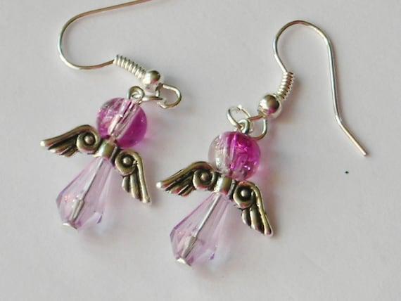 Angel Dangle Christmas Earrings