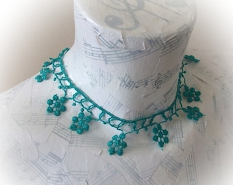 Green Lace choker,lace necklace,Women accessory,Summer Fashion lace necklace,romantic-Your choice of color
