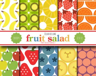 Digital Scrapbook Papers Fruit Salad